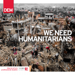 We Need Humanitarians