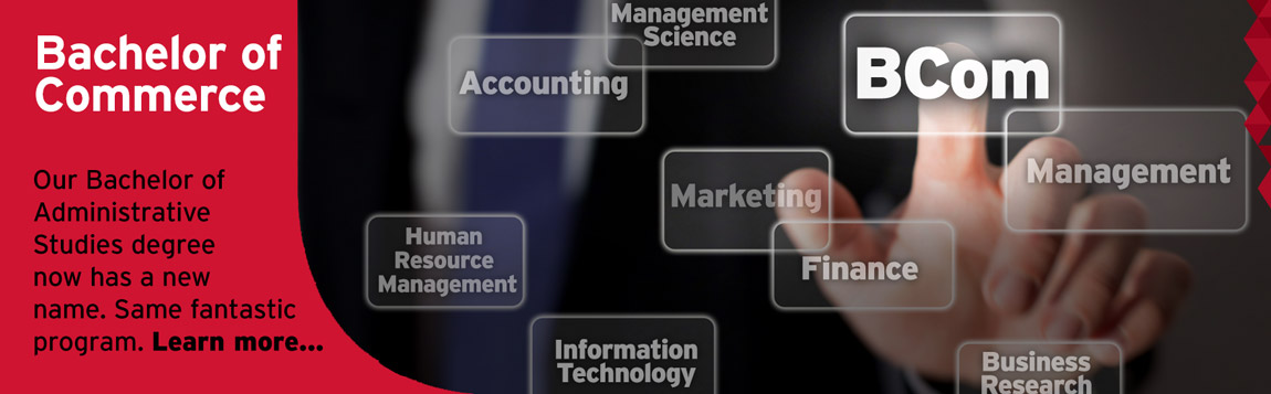 Bachelor of Commerce new degree -- graphic/photo