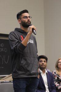 gurjot singh speaking to first year students